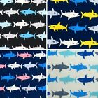 Sale 100% Japanese Cotton Patchwork Fabric Sevenberry Multi Coloured Shark Lines