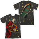 Authentic Flash Gordon Comic Book Blast Off Sublimation ALL Front Back T-shirt