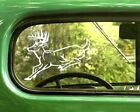 2 Running Deer Decal Buck Whitetail Stickers For Car Window Truck Bumper Laptop