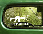 2 Liberty Or Death Ar15 Decals Assault Rifle Sticker For Car Window Bumper Rv