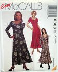 McCall's Sewing Pattern # 6808 Empire Dress w/ Neckline Variations Choose Size
