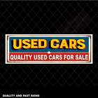 Quality Used Cars For Sale Dealer Signage Colour Sign Printed Heavy Duty 4168