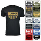 Men's Funny Beer Jeep 100% Cotton T-shirts image