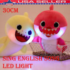 30CM LED Sing Song Baby Shark Pulsh Doll Toys PinkFong Soft For kids baby Gift