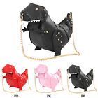 Women 3D T-Rex Triceratops Dinosaur Rivet Crossbody Shoulder Bag Girl Handbag US