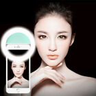 Selfie Portable LED Ring Light Flash For Apple iPhone Samsung HTC Phone Light