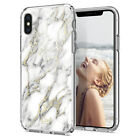 iPhone X/XS, XS Max, XR Ciel [Cecile] White Glossy Marble Ultra Slim Cover Case