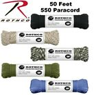 550 Paracord 7 Strand 100% Polyester Type III Parachute Cord Rope 50 Feet Rothco