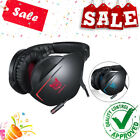 Cuffie Gaming 3,5mm AUX Microfono Per Tablet PC, Smartphone, PS4, Xbox Rosso/Blu