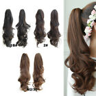 women clip in pony tail hair extensions claw clip on ponytail as human piece