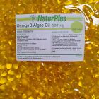 Omega 3 Algae Oil 500mg Vegan Vegetarian DHA Essential Fatty Acid - Naturplus