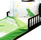 3pc Toddler Bedding Set - Comforter Sheets Frog Prince Purple Butterfly Whales