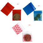 100 Bags clear 8ml small poly bagrecloseable bags plastic baggie HGUK