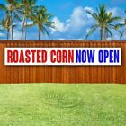 ROASTED CORN NOW OPEN Advertising Vinyl Banner Flag Sign LARGE HUGE XXL SIZE