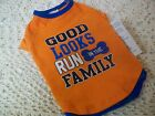 GOOD LOOKS Run in the FAMILY T-Shirt Dog Pet New XXS XS S Wag-a-tude Petco