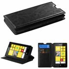 For Nokia Lumia 520 Leather Flip Wallet Case Cover Stand Color