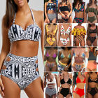 Push Up Sexy Women's High Waisted Bikini Set Padded Swimsuit Beachwear Swimwear $10.11 USD on eBay