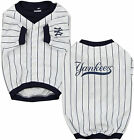 Sporty K9 MLB New York Yankees Baseball Dog Jersey, White/Navy