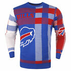 Forever Collectibles NFL Men's Buffalo Bills Plaid Crew Neck Sweater $52.73 CAD on eBay