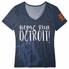 FOCO MLB Women's Detroit Tigers Home Run V-Neck Tee on Ebay