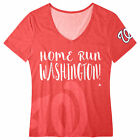 FOCO MLB Women's Washington Capitals Home Run V-Neck Tee $18.0 USD on eBay