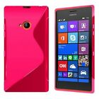 Case For Nokia Lumia 720 S-Line Silicone Gel Skin Tough Shockproof Phone Cover
