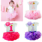 US Toddler Baby Girl 1st First Birthday Outfits One Year Princess Clothing Sets