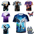 How To Train Your Dragon 3D Printed T-shirt Adult Kids Short Sleeve Tops Unisex