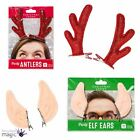 Talking Tables Clip Elf Ears Reindeer Antlers Christmas Xmas Party Stocking Gift