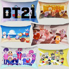 1PC Cute BT21 BTS Pillowcase Car Sofa Waist Cushion Cover Home Decor Pillowcase image