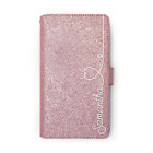 PERSONALISED INITIAL PINK GLITTER PHONE CASE LEATHER COVER FOR SONY GOOGLE......
