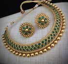 Bridal Chocker Indian Ethnic Jewelry Bollywood Bridal Gold Plated Design Set