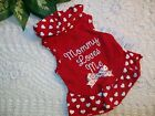 RED Heart MOMMY LOVES ME DRESS Pet Dog Cat Wag-a -tude S M new Petco medium