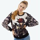 Womens Anime Animal Print Sweatshirt Pullover Fashion Ladies Casual Tops Sweater