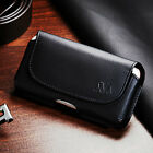 Premium Executive Belt Loop Cell Phone Clip Pouch Holder Case Strap All Black