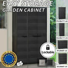 Vidaxl Garden Storage Cabinet Security Lock  With 2/3/4 Shelves Black/grey
