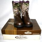 Realtree Camo Boys Cowboy Boots, Youth Kids Toddler Camouflage Dustin Jr.