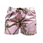 Realtree Girl Pink Camo Shorts, Ladies Camouflage Lounge