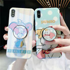 For iPhone 11 Pro XS Max 7 8 Cute Disney polka dot Dumbo Stand Holder phone case $11.57 AUD on eBay