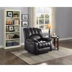 UPHOLSTERED RECLINER CHAIR SOFA Home Theater Gray Brown Comfort Ergonomic Lounge
