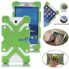"US Green Kids Safe Shockproof Silicone Cover Case Universal For 8"" ~ 9"" Tablets"