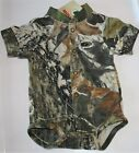 Mossy Oak Camo Baby Diaper Shirt, Camouflage Boy's Creeper Easy On Snap
