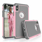 For iPhone 6 6S 7 8 Plus X XR XS Max Shockproof Case Cover With Screen Protector