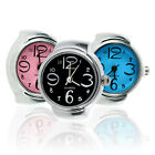 JT_ Women's Mini Creative Fashion Stainless Steel Quartz Finger Ring Watch Can image