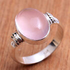 Pink Cab Rose Quartz  925 sterling silver jewelry Gemstone Ring Choose Size