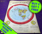 Gleasons New Standard World Map 1892 • Print Poster • Flat Earth • A3 to A1 size