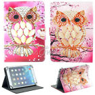"US For 7"" 8"" 10.1"" Tablet PC Cartoon Pink Owl Universal Leather Case Stand Cover"