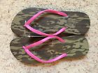 Women's Mossy Oak Bottomland Flip Flop/ Camouflage & Pink / Large or Small /NWT