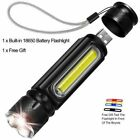 30000LM LED Flashlight Rechargeable Zoomable T6 COB Torch Side magnet Work Light