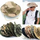 Mens Boonie Wide Brim Military Camo Army Bucket Hat Hunting Fish Outdoor Sun Cap
